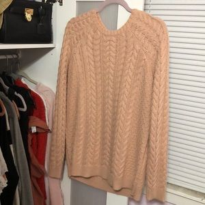 Forever 21 Peach Cable Knit 🍑